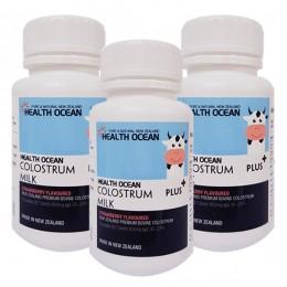 헬스오션 플러스 초유정제 60정 lgG20~25%,(1일 권장 섭취시 2240mg의 최고함량) 3통