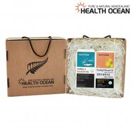 (선물세트) 헬스오션 연어유 오메가3 150캡슐 + 헬스오션 뉴질랜드 달맞이꽃종자유 150캡슐