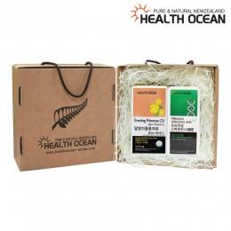 (선물세트) 헬스오션 뉴질랜드 달맞이꽃종자유 150캡슐 + 헬스오션 프리미엄 스피루리나 320정