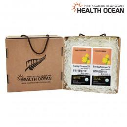 (선물세트) 헬스오션 뉴질랜드 달맞이꽃종자유 150캡슐 2통