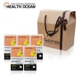 (선물세트) 헬스오션 뉴질랜드 달맞이꽃종자유 150캡슐 5통