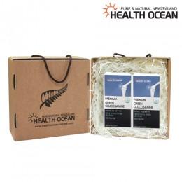(선물세트) 헬스오션 녹색입홍합+글루코사민 농축 복합제품 180캡슐 2통