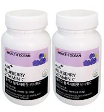 (가격인하) 헬스오션 플러스 블루베리맛 비타민C 850mg 180정 2통