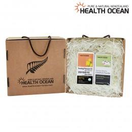 (선물세트) 헬스오션 프리미엄 초유분말 100g + 헬스오션 뉴질랜드 달맞이꽃종자유 150캡슐